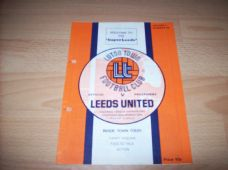 Luton Town v Leeds United, 1974/75